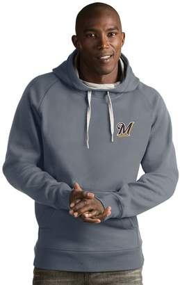 Antigua Men's Milwaukee Brewers Victory Pullover Hoodie