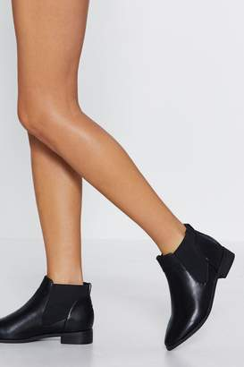 Nasty Gal Flat Got Your Tongue Chelsea Boot