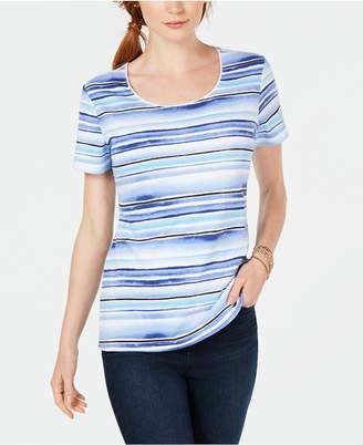 Karen Scott Striped T-Shirt