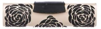 Sergio Rossi Leather-Trimmed Sequin Clutch