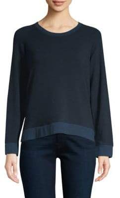 Monrow Lace-Up Sweatshirt