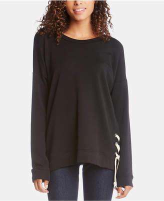 Karen Kane Lace-Up Sweater