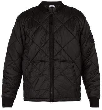 Stone Island Quilted Ripstop Bomber Jacket - Mens - Black