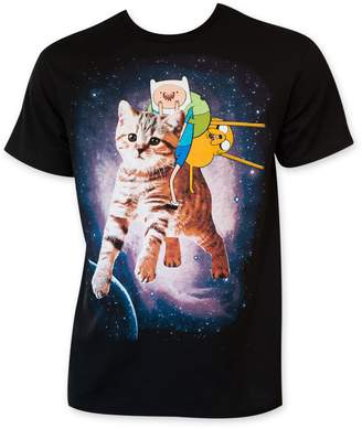 Finn Adventure Time Jake Space Mens T-Shirt, (L)