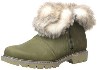 Caterpillar Women's Flurry Waterproof Pull on Cold Weather Faux Fur Collar Ankle Boot