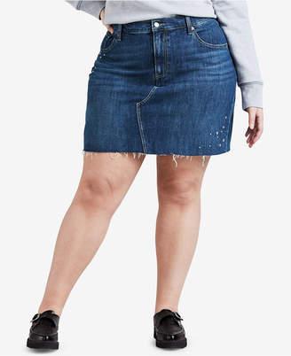 Levi's Plus Size Studded Stretch Denim Skirt