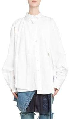 Sacai Long-Sleeve Suiting Button-Down Shirt