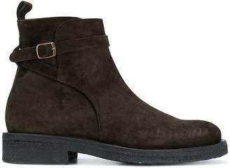 Ami Paris Strap Boots With Crepe Sole