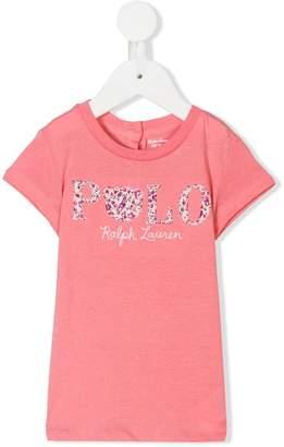 Ralph Lauren floral logo embroidered T-shirt