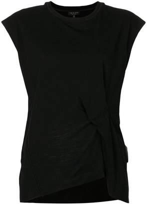Rag & Bone draped front short sleeve top