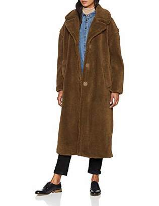 Warehouse Women's Maxi Faux Fur Coat,(Size:)