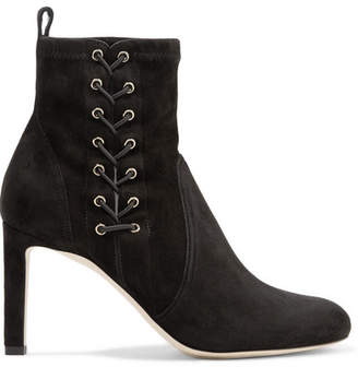 Jimmy Choo Mallory 85 Suede Ankle Boots - Black
