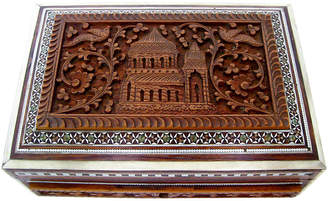 One Kings Lane Vintage Anglo-Indian Inlay Wood Box - Retro Gallery