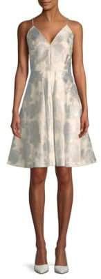 Calvin Klein Brocade A-Line Dress