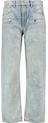 Helmut Lang Button-Detailed Distressed Boyfriend Jeans