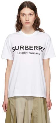 Burberry White Carrick T-Shirt