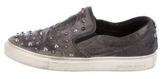 Philipp Plein Embellished Slip-On Sneakers