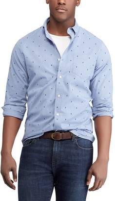 Chaps Big & Tall Regular-Fit Dobby Easy-Care Stretch Button-Down Shirt