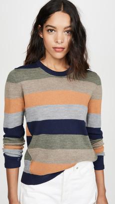 ATM Anthony Thomas Melillo Striped Crew Sweater