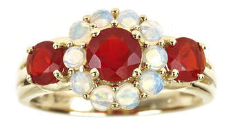 JCPenney FINE JEWELRY LIMITED QUANTITIES Genuine Opal and Fire Opal 3-Stone Ring