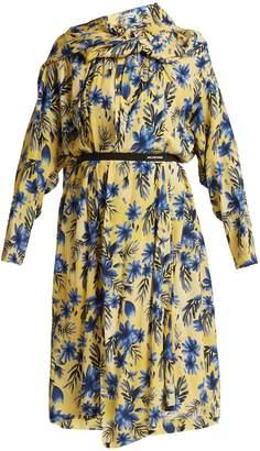 Balenciaga Floral-print silk dress