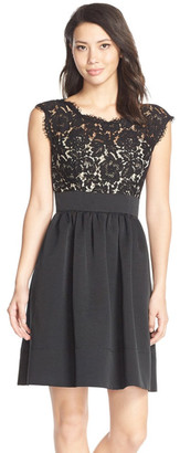 Eliza J Lace & Faille Dress $148 thestylecure.com