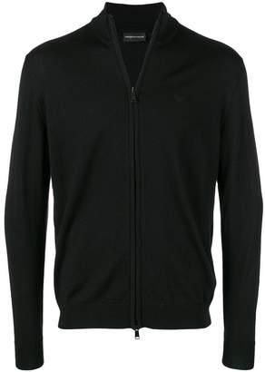 Emporio Armani zip-up cardigan