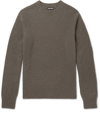 Tom Ford Slim-Fit Brushed-Cashmere Sweater - Men - Gray