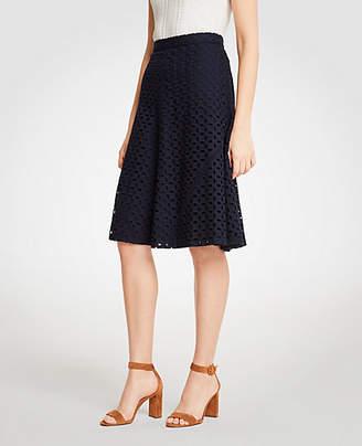 Ann Taylor Petite Eyelet Full Skirt