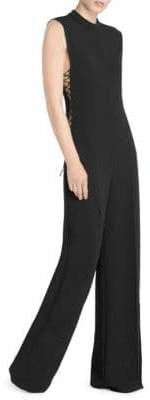 Stella McCartney Lace-Up Sleeveless Jumpsuit