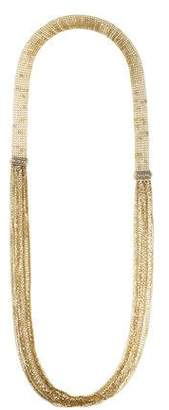 Lanvin Long Chain & Fringe Necklace