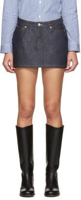 A.P.C. Indigo Mini Denim Skirt $110 thestylecure.com