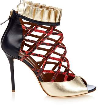 Malone Souliers Beryl snakeskin and leather pumps