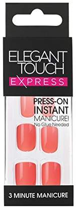 Elegant Touch Pre-Glued Express Nails, Polished Coral by