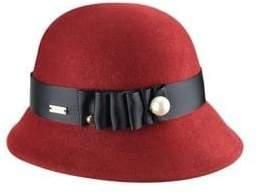 Betmar Cassatt Wool Cloche Hat