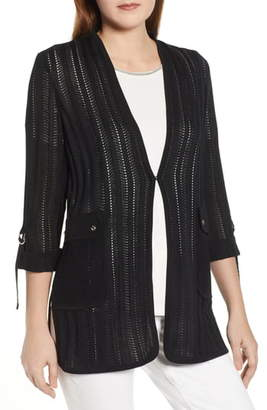 Ming Wang Pointelle Jacket