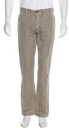 James Perse Linen-Blend Straight-Leg Jeans