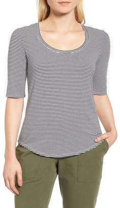 Nordstrom Signature Stripe Scoop Neck Tee