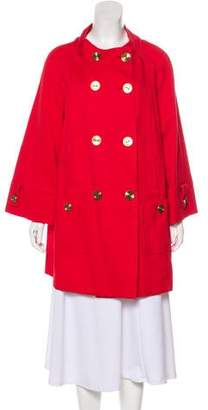 Ellen Tracy Long-Sleeve Short Swing Coat