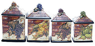 JCPenney 4-pc. Wine Cellar Canister Set