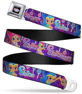 Buckle-Down Men's Seatbelt Belt Shimmer and Shine XL