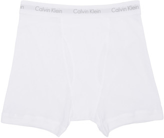 Calvin Klein Underwear Three-Pack White Boxer Briefs $40 thestylecure.com