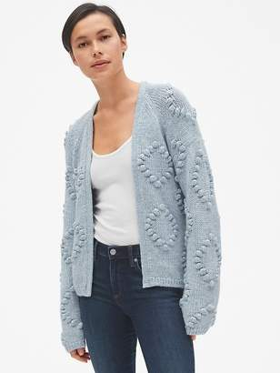 Gap Bobble Stitch Cardigan Sweater in Wool-Blend