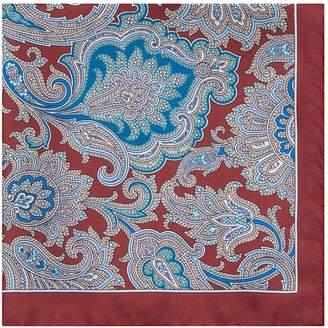 Reiss Wyatt Paisley Pattern Silk Pocket Square