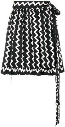 Stella McCartney zig-zag print mini skirt