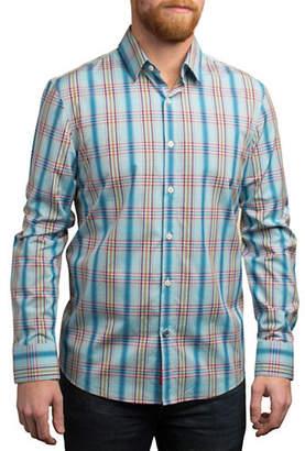 English Laundry Bold Plaid Cotton Shirt