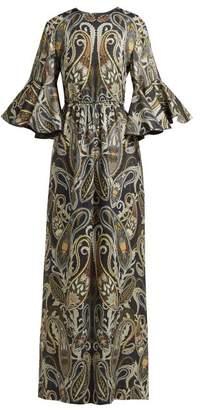 f3e07f8703df Chloé Paisley Print Silk Blend Dress - Womens - Black Multi
