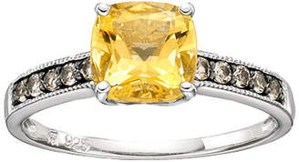 JCPenney FINE JEWELRY Lab-Created Citrine & Smoky Quartz Ring