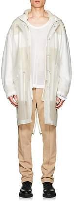 Helmut Lang Men's Translucent Hooded Rain Parka