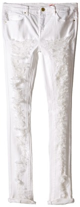 Blank NYC Kids - Ripped Skinny Jeans in White Lines Girl's Jeans $68 thestylecure.com